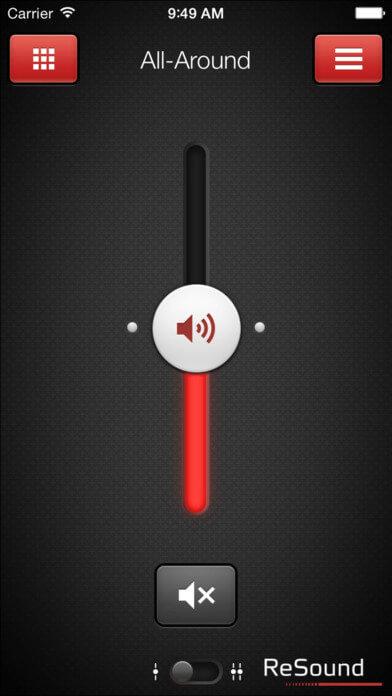 screen shot of the app